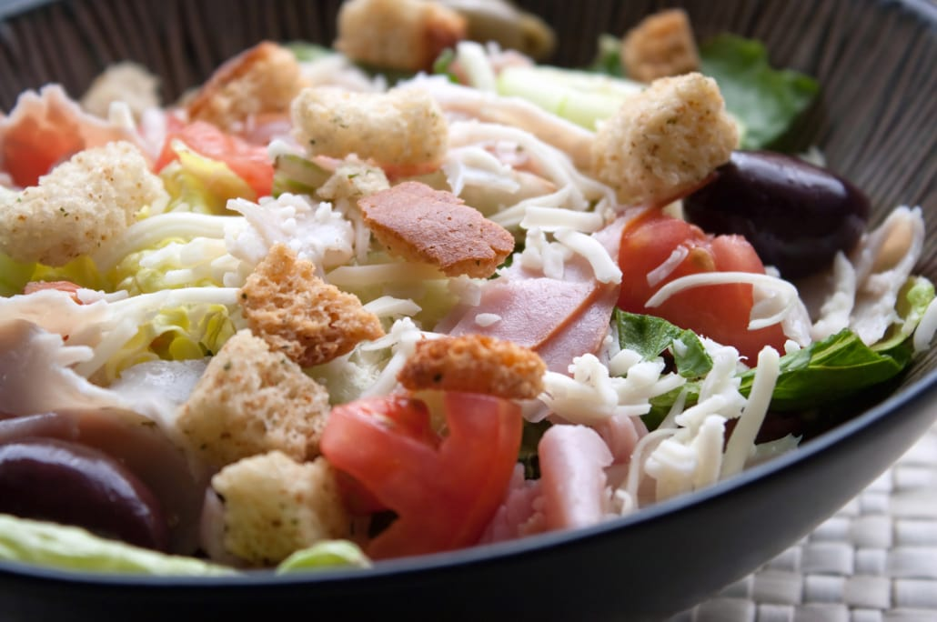 Chef's Salad - available all day at the Lodge at Aspen Village