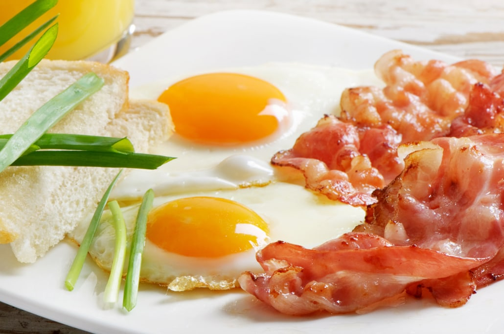 Traditional egg breakfast at The Lodge at Aspen Village - available all day!